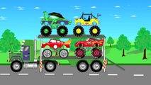 Gros compte pour enfants monstre super-héros un camion camions vidéo Disney 2017