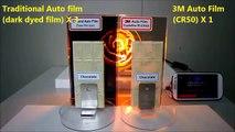 Best car window tinting in Las  3M Crystalline Window Film Heat Rejection Capabilities vs Standard Films Using Chocolate