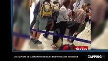 Un employé de l'aéroport de Nice frappe violemment un voyageur avec un bébé de 14 mois