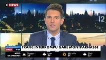 EN DIRECT - Gare Montparnasse - Le trafic TGV reste très perturbé - La SNCF recommande de privilégier le report du voyag