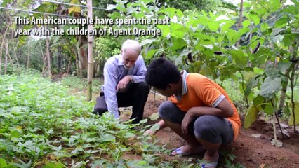 The American couple teaching the children of Agent Orange in central Vietnam