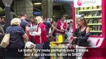 Montparnasse: trafic TGV toujours perturbé, pagaille en gare