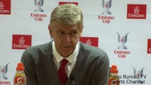 Arsene Wenger reaction Emirates Cup 2017 Arsenal vs Benfica