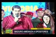 Venezuela: Nicolás Maduro amenaza a opositores