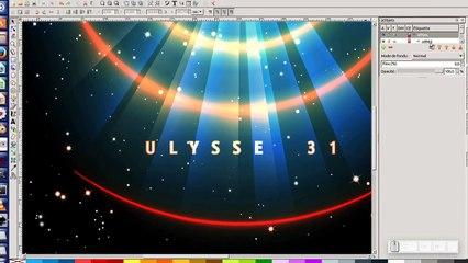 """Tuto inkscape 0.92 : Réalisation un fond d'écran """"spatial"""""""