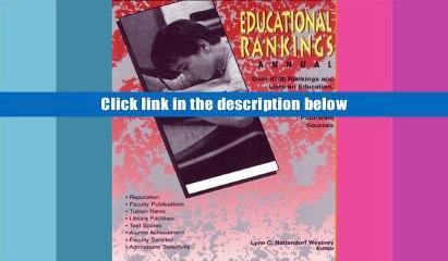 FREE [DOWNLOAD] Educl Rnkngs Ann 06 (Educational Rankings Annual) Westney Full Book