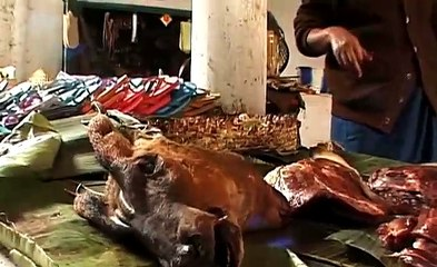 Bushmeat market in Nagaland, India