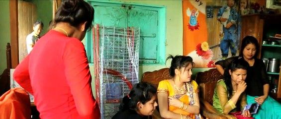 Manipuri bride speaks to friends on her mobile, before her wedding