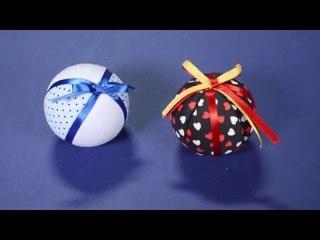 Fika Dika - Como decorar uma bola de isopor com tecido para o natal