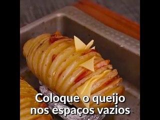 Fika Dika - Batata laminada com queijo e bacon