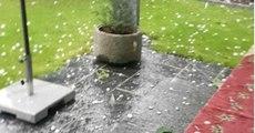 Storm Slams Winterthur with Large Hailstones