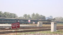 Mymensing Bound Ishakhan Express Train Departing Dhaka Railway Station