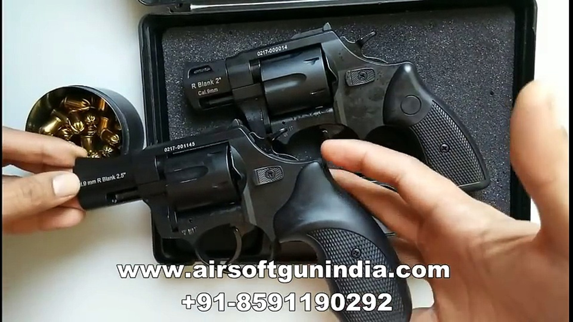R2 2 BLACK ZORAKI 9MM FIRING REVOLVER by airsoft gun india