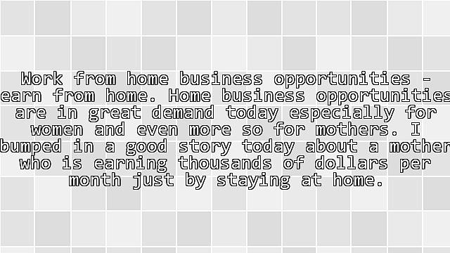 Women's Choice – Home Business Opportunities