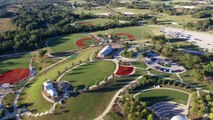 Drone footage over Franklin Texas baseball fields.