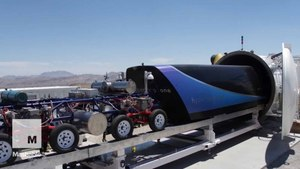 Hyperloop One footage shows full-scale pod zooming down at nearly 200 mph