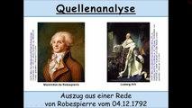 Quellenanalyse einer Rede von Robespierre vom 04.12.1792 (Französische Revolution)