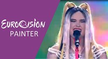 Triana Park - Line (Latvia) 2017 First Semi-Final - Eurovision Painter