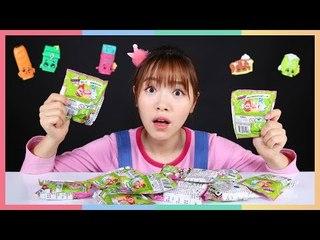 凱利的Shopkins微型購物角色扮演玩偶開箱玩具遊戲 | 凱利和玩具朋友們 | 凱利TV