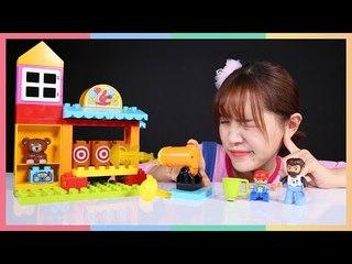 凱利的樂高得寶射擊遊樂場玩具遊戲 | 凱利和玩具朋友們 | 凱利TV