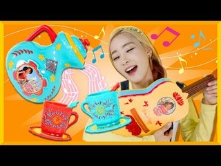 愛麗的迪斯尼艾琳娜公主茶壺套装和吉他玩具遊戲 | 凱利和玩具朋友們  | 凱利TV