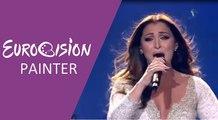 Claudia Faniello - Breathlessly (Malta) 2017 Second Semi-Final - Eurovision Painter