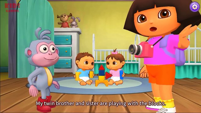 Dora The Explorer Learning Adventure Dora Games - Dora & Boots - Dora Play with Her Brother & Sister ,Cartoons animated anime Tv series movies 2018