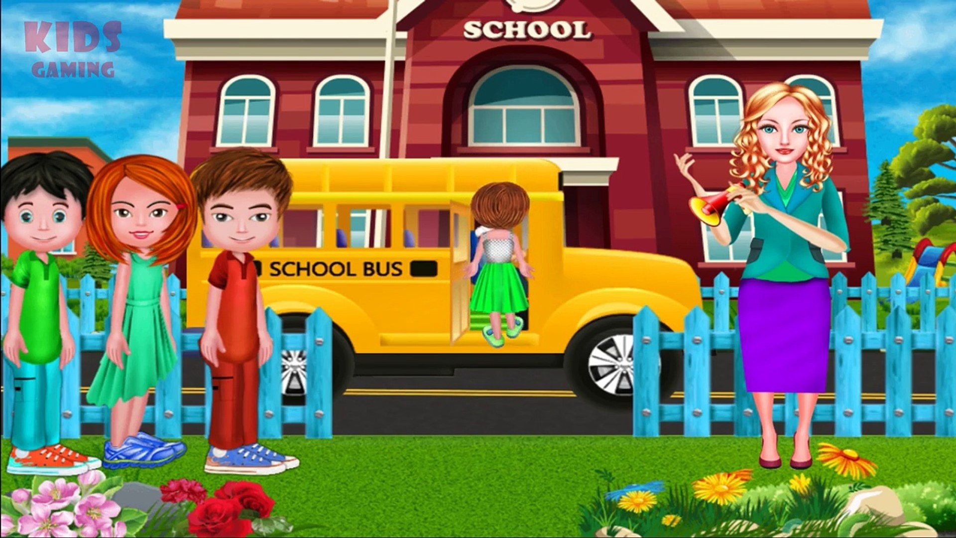 School Bus Cartoons For Children Videos For Children Games For