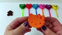 Les meilleures enfants les couleurs visage pour amusement amusement apprentissage sucettes moules patrouille patte jouer avec Doh smiley
