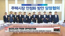 Opposition parties criticize government's real estate stabilization measures