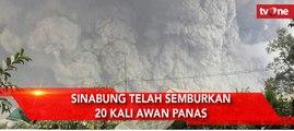 Sinabung Telah Semburkan 20 Kali Awan Panas