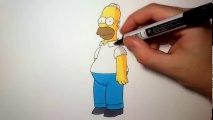 Comment Déssiner Homer Simpson Vidéo Dailymotion