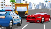 Learn Vehicles The Police Car chases Racing Cars - Emergency Car - New Cartoons for Kids