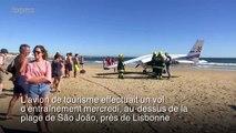 Portugal: un avion atterrit sur une plage et tue deux baigneurs