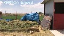 Aksaray At Çiftliği 1.3Kw/sa OffGrid Güneş Enerjisi Sistemi Egetron Enerji