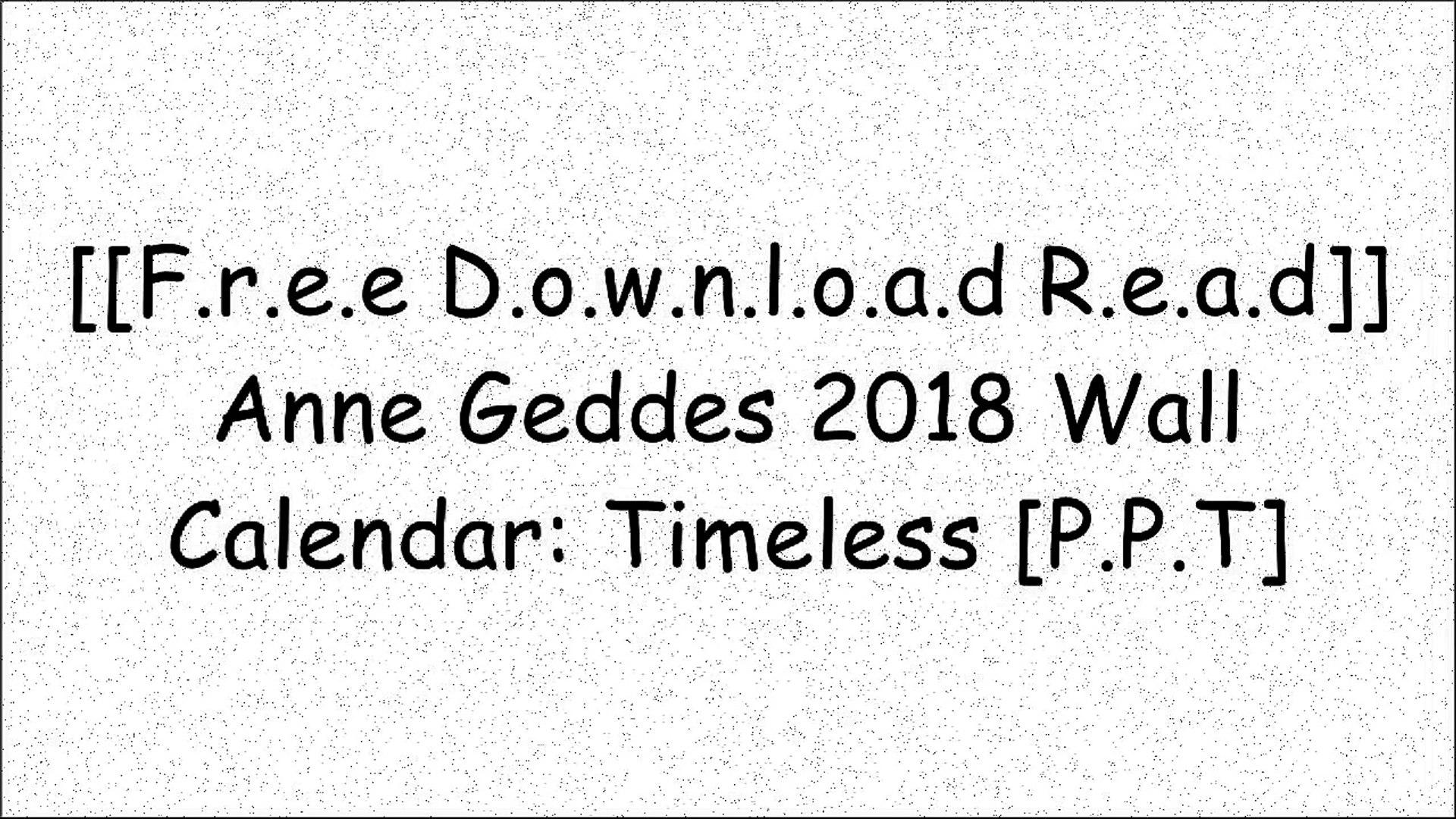 2005 Desk Calendar Anne Geddes Pure
