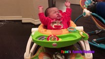 Twin Babies Fart with Kids Farting Toy Prank Whoopie Cushion! Ryans Family Playtime with