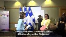 Québec face à l'afflux d'Haïtiens fuyant les Etats-Unis