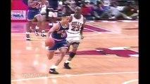 Michael Jordan 54 Points vs John Starks 93 Playoffs Game 4 | Starks in Trouble!