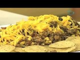 Nachos de carne, frijol y maíz. Cocinemos Juntos