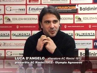 Icaro Sport. Verso AC Rimini-Olympia Agnonese, il pregara di Luca D'Angelo