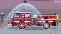 Camion de pompier, camion, voiture, Apprendre les transports | Compilation