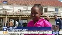 L'œil de Salhia: retour sur la journée d'Emmanuel Macron entouré d'enfants