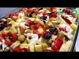 Receta de torta rústica de champiñones, pimientos y espinacas. Receta de torta