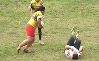 Tonga : cette joueuse de rugby est un vrai bulldozer !