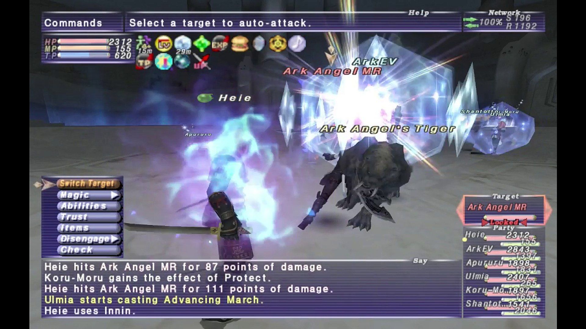 FFXI Solo Ark Angel Mithra High Tier Battle on Difficult