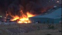 Başkent'te Atık Kağıt Deposunda Yangın