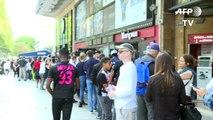 Les maillots de Neymar s'arrachent à la boutique PSG des Champs