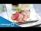 Receta de Sashimi de Atún con Salsa Ponzu / Cómo preparar Sashimi de Atú