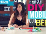 DIY : faire un mobile pour bébé en origami.
